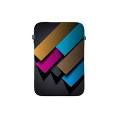 Shapes Box Brown Pink Blue Apple iPad Mini Protective Soft Cases