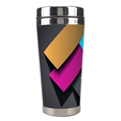 Shapes Box Brown Pink Blue Stainless Steel Travel Tumblers