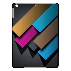 Shapes Box Brown Pink Blue iPad Air Hardshell Cases