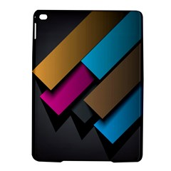 Shapes Box Brown Pink Blue iPad Air 2 Hardshell Cases