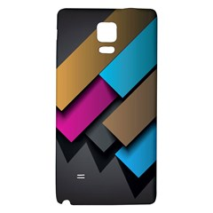 Shapes Box Brown Pink Blue Galaxy Note 4 Back Case