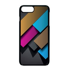 Shapes Box Brown Pink Blue Apple Iphone 7 Plus Seamless Case (black)
