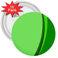 Simple Green 3  Buttons (10 pack)