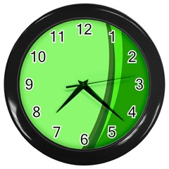 Simple Green Wall Clocks (Black)