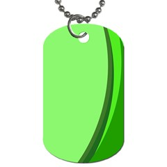 Simple Green Dog Tag (Two Sides)