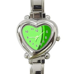 Simple Green Heart Italian Charm Watch