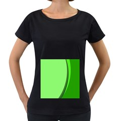 Simple Green Women s Loose-Fit T-Shirt (Black)