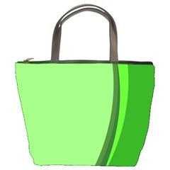 Simple Green Bucket Bags