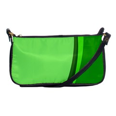 Simple Green Shoulder Clutch Bags