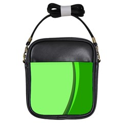 Simple Green Girls Sling Bags