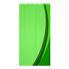 Simple Green Shower Curtain 36  x 72  (Stall)