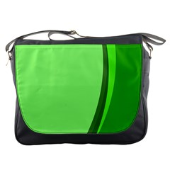 Simple Green Messenger Bags