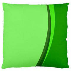Simple Green Large Cushion Case (Two Sides)