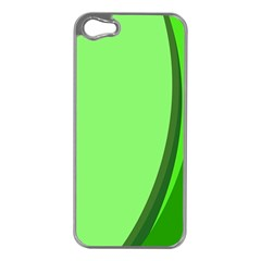 Simple Green Apple iPhone 5 Case (Silver)