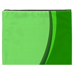 Simple Green Cosmetic Bag (XXXL)