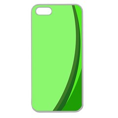 Simple Green Apple Seamless iPhone 5 Case (Clear)