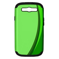 Simple Green Samsung Galaxy S III Hardshell Case (PC+Silicone)