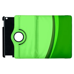 Simple Green Apple iPad 3/4 Flip 360 Case