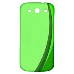 Simple Green Samsung Galaxy S3 S III Classic Hardshell Back Case
