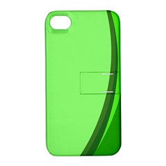 Simple Green Apple iPhone 4/4S Hardshell Case with Stand