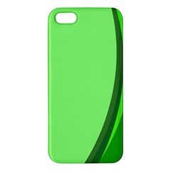Simple Green Apple iPhone 5 Premium Hardshell Case