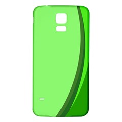 Simple Green Samsung Galaxy S5 Back Case (White)