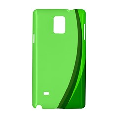 Simple Green Samsung Galaxy Note 4 Hardshell Case