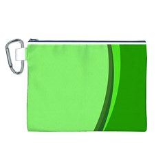 Simple Green Canvas Cosmetic Bag (L)