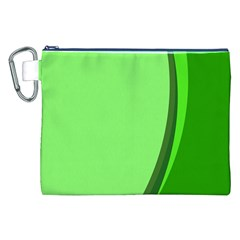 Simple Green Canvas Cosmetic Bag (XXL)