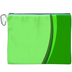Simple Green Canvas Cosmetic Bag (XXXL)
