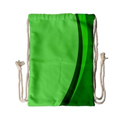 Simple Green Drawstring Bag (Small)