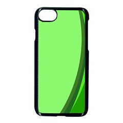 Simple Green Apple Iphone 7 Seamless Case (black)