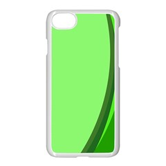 Simple Green Apple iPhone 7 Seamless Case (White)