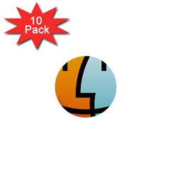 Two Fafe Orange Blue 1  Mini Buttons (10 pack)