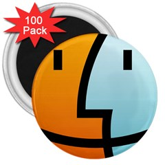 Two Fafe Orange Blue 3  Magnets (100 pack)