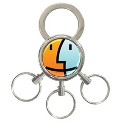 Two Fafe Orange Blue 3-Ring Key Chains