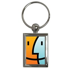 Two Fafe Orange Blue Key Chains (Rectangle)