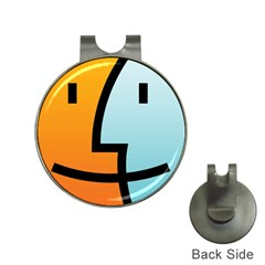 Two Fafe Orange Blue Hat Clips with Golf Markers