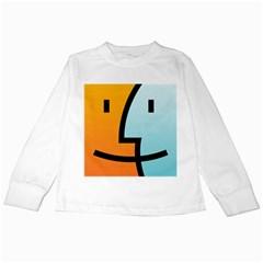 Two Fafe Orange Blue Kids Long Sleeve T-Shirts