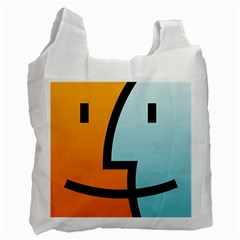 Two Fafe Orange Blue Recycle Bag (Two Side)
