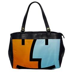 Two Fafe Orange Blue Office Handbags