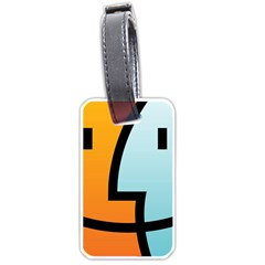 Two Fafe Orange Blue Luggage Tags (One Side)