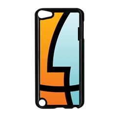 Two Fafe Orange Blue Apple iPod Touch 5 Case (Black)