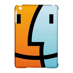 Two Fafe Orange Blue Apple iPad Mini Hardshell Case (Compatible with Smart Cover)
