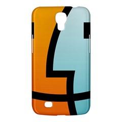 Two Fafe Orange Blue Samsung Galaxy Mega 6.3  I9200 Hardshell Case