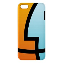Two Fafe Orange Blue iPhone 5S/ SE Premium Hardshell Case