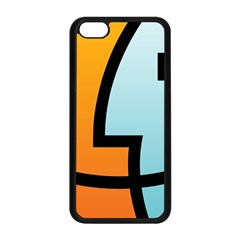 Two Fafe Orange Blue Apple iPhone 5C Seamless Case (Black)