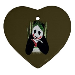 Simple Joker Panda Bears Ornament (Heart)