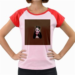 Simple Joker Panda Bears Women s Cap Sleeve T-Shirt