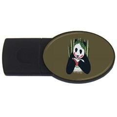Simple Joker Panda Bears USB Flash Drive Oval (1 GB)